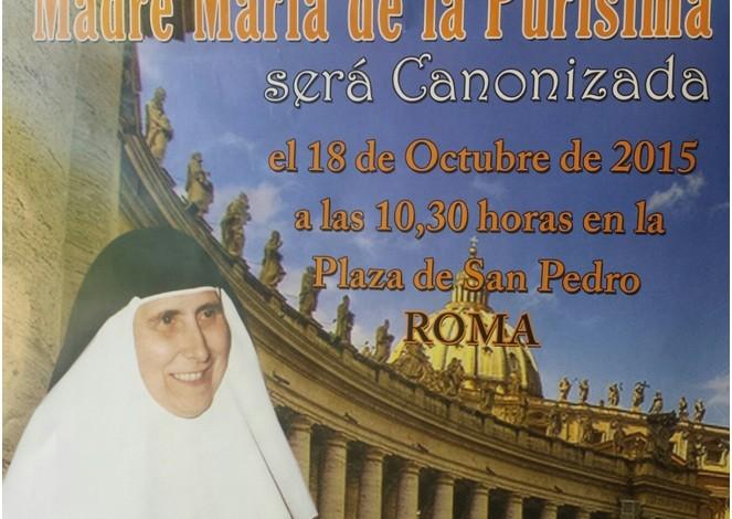 Canonización de Madre María de la Purísima en Roma