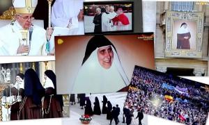 collage Ceremonia CAnonización Roma 2015
